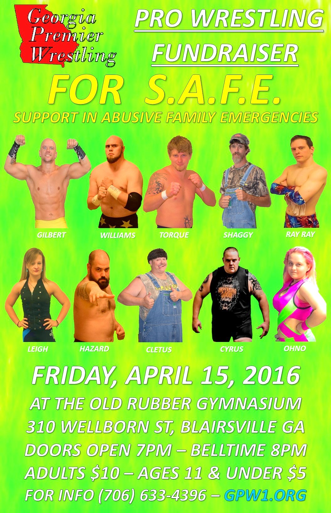 Wrestling poster 2016 color
